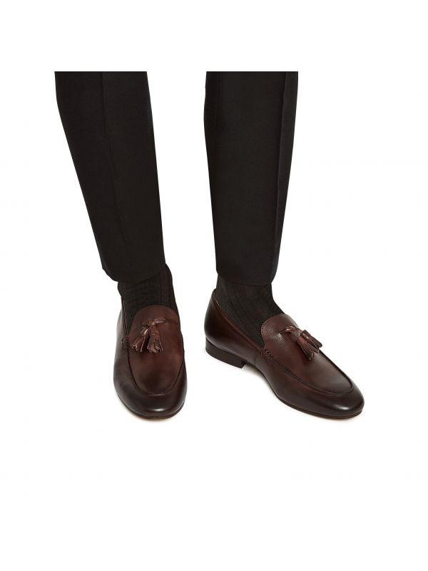 Mens Bolton Tassle Brown Loafer Lifestyle