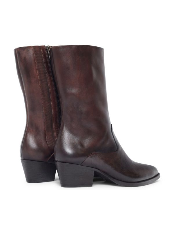 Womens Cary Brown Boot Detail