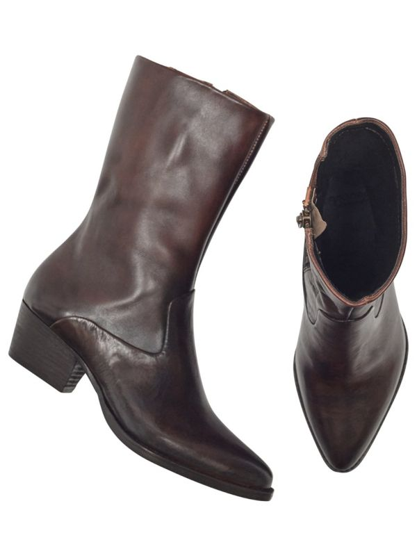 Womens Cary Brown Boot Top
