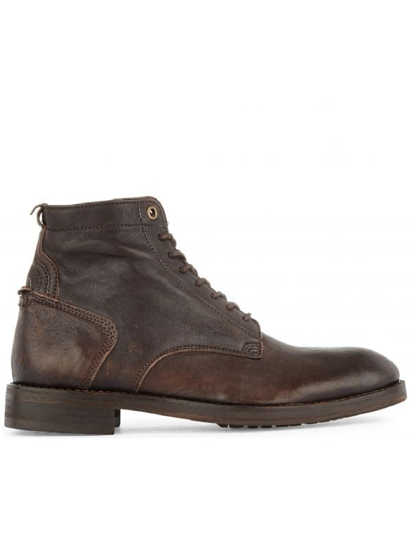 Lace Up Boot Gypsum Brown Side View