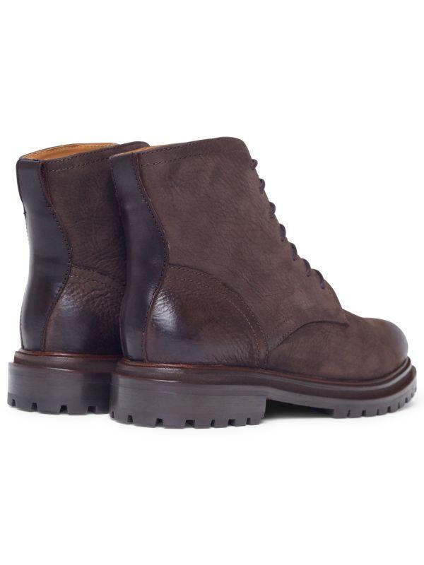 Lingshaw Nubuck Brown Boot Detail