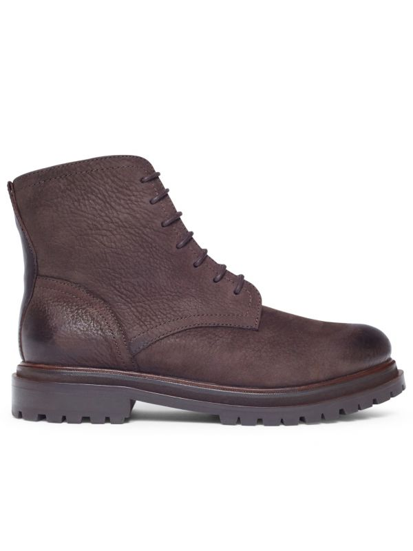 Lingshaw Nubuck Brown Boot Side