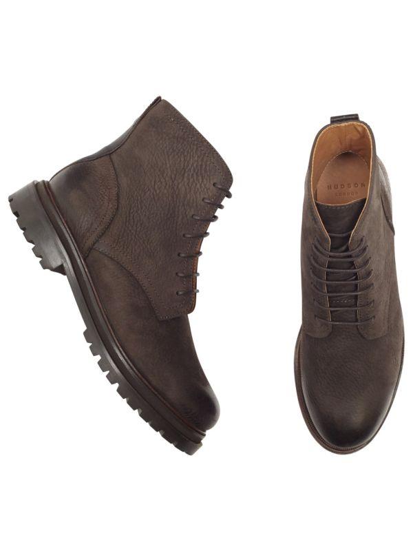 Lingshaw Nubuck Brown Boot Top