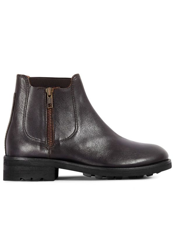 Womens Algoma Brown Chelsea Boot Side