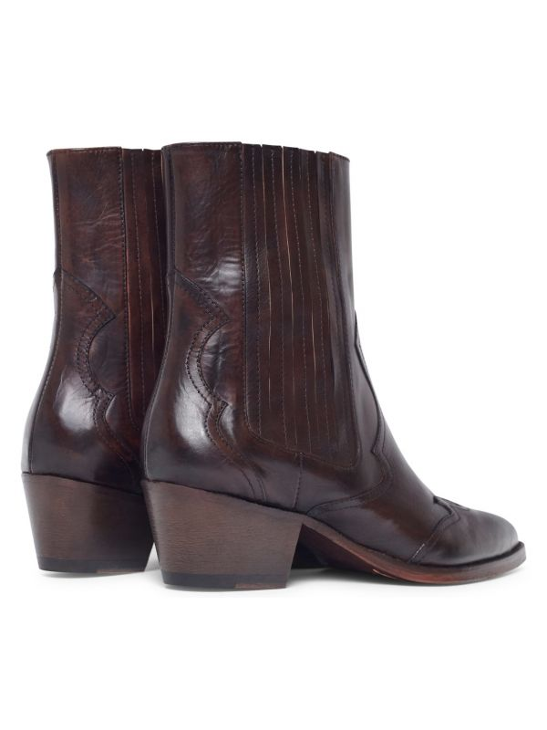 Womens Sienna Brown Chelsea Boot Detail