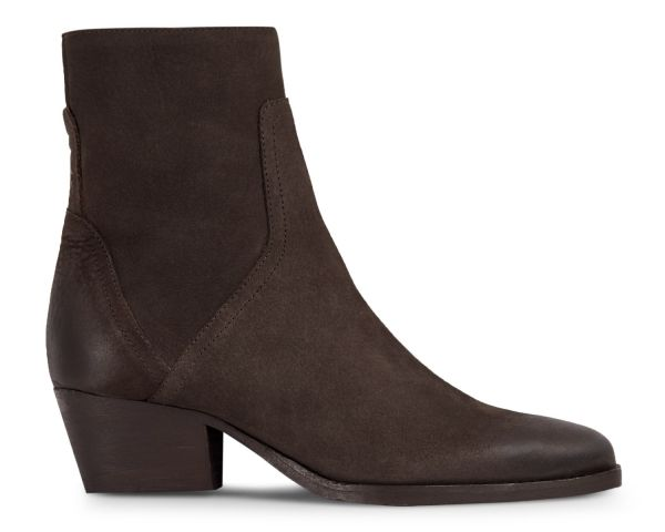 Womens Beryl Nubuck Brown Boot Side