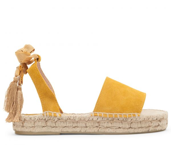 Andrea Suede Mustard Sandal