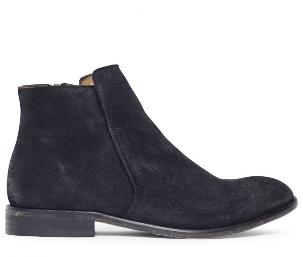 Ash Suede Black Boot