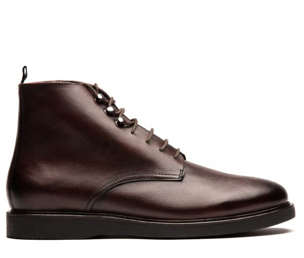 Mens Battle Brown Boot Side