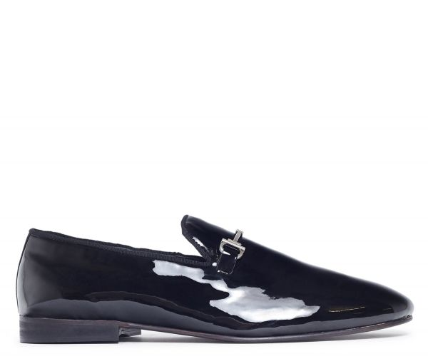Bolton Patent Black Snaffle Loafer