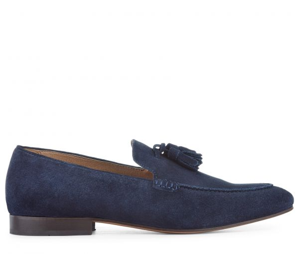 Bolton Suede Navy Loafer