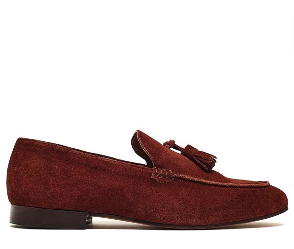 Bolton Suede Rust Loafer