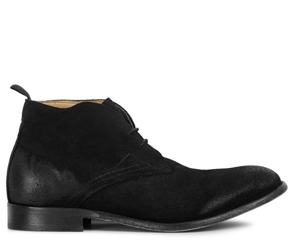 Mens Bryson Suede Black Chukka Boot Side
