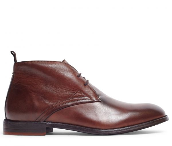 Bryson Drum Dye Brown Chukka Boot
