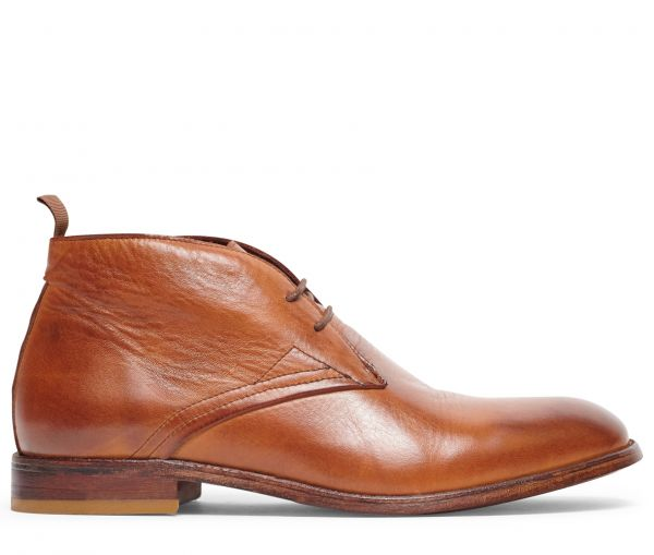 Bryson Drum Dye Tan Chukka Boot