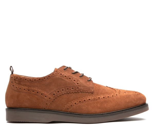 Calverston Suede Tan Brogue Shoe