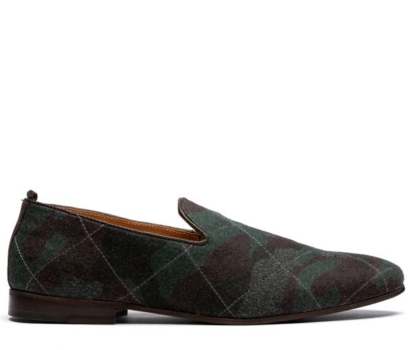 Cato Quilted Green Slip On
