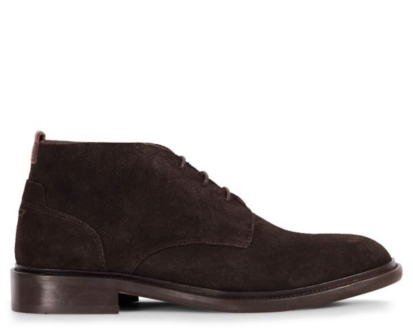 Mens Drey Suede Brown Chukka Boot Side