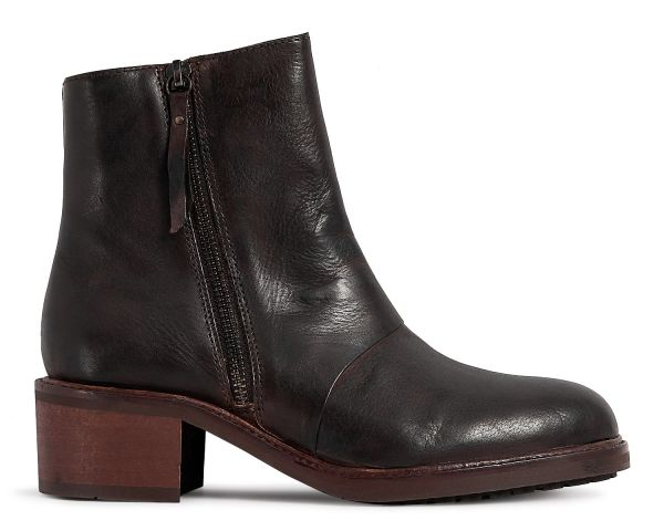Womens Pris Brown Zip Boot Side