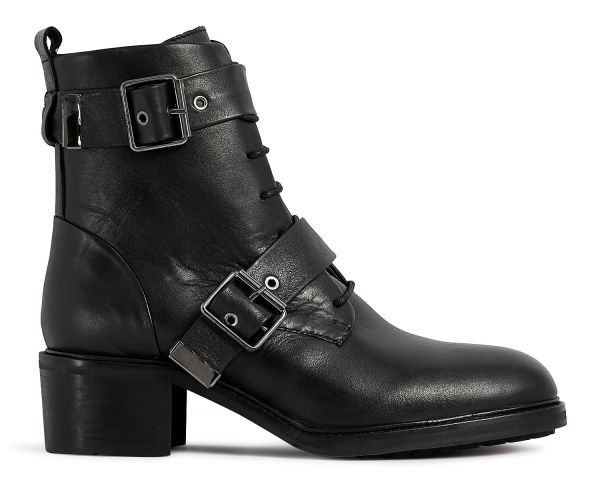 Womens Stanton Black Boot Side