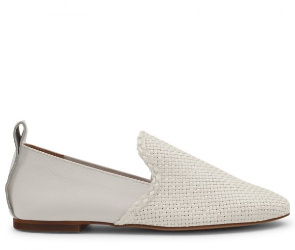 Helena Weave White Loafer