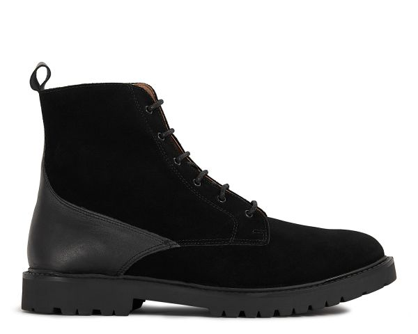 Mens Perry Suede Black Boot Side