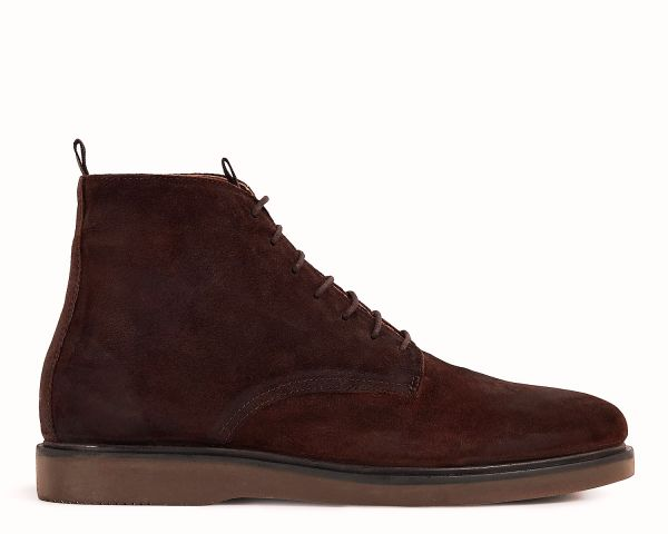 Mens Troy Suede Brown Boot Side