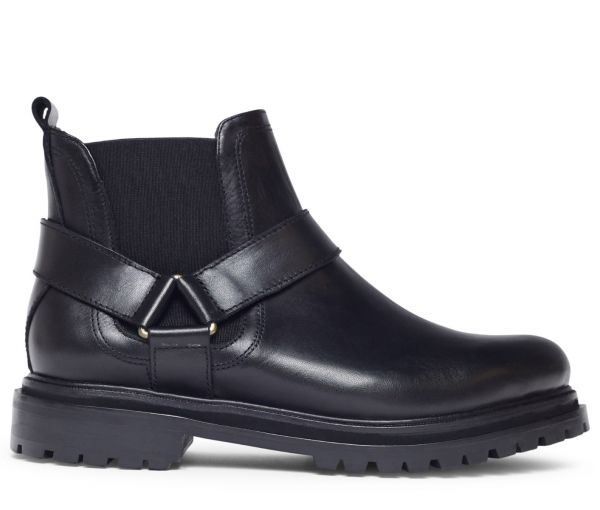 Moss Black Chelsea Boot Side