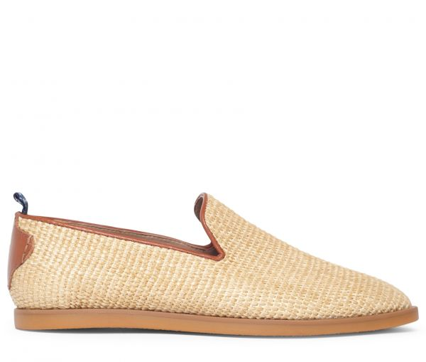 Parker Raffia Natural Slip On Loafer