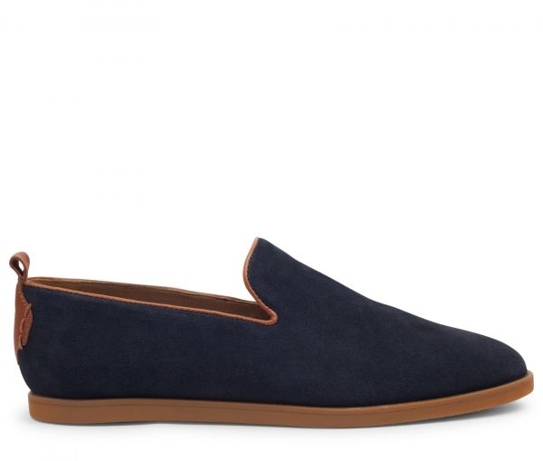 Parker Suede Navy Slip On Loafer
