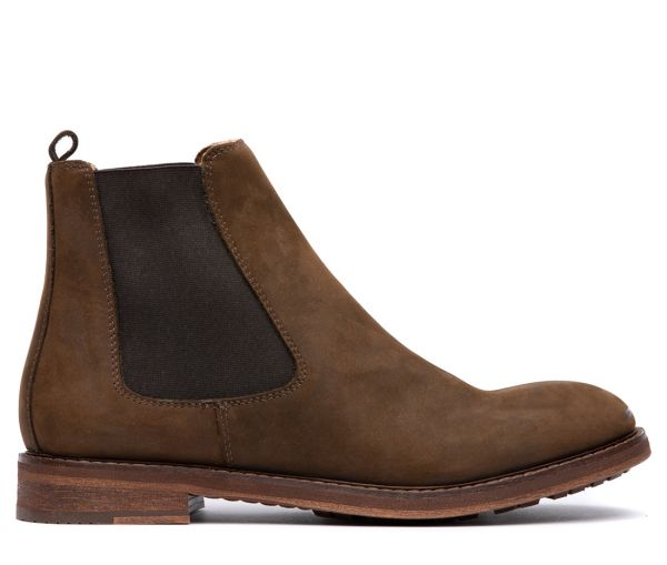 Mens Rowan Brown Chelsea Boot Side