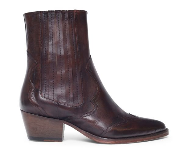Womens Sienna Brown Chelsea Boot Side