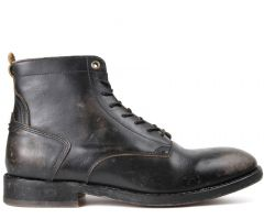 Lace Up Boot Mckendrick Black Side View